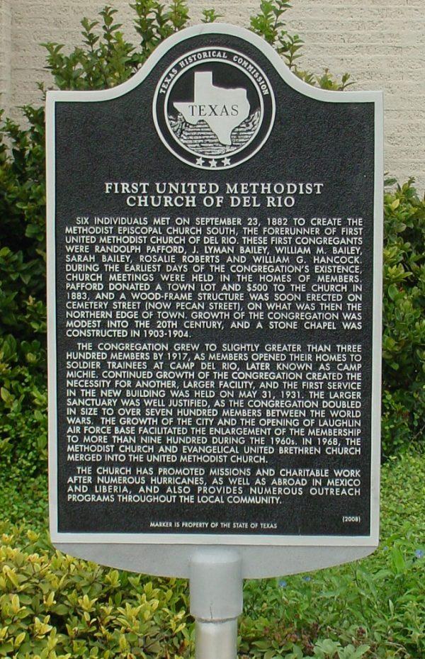methodist church marker