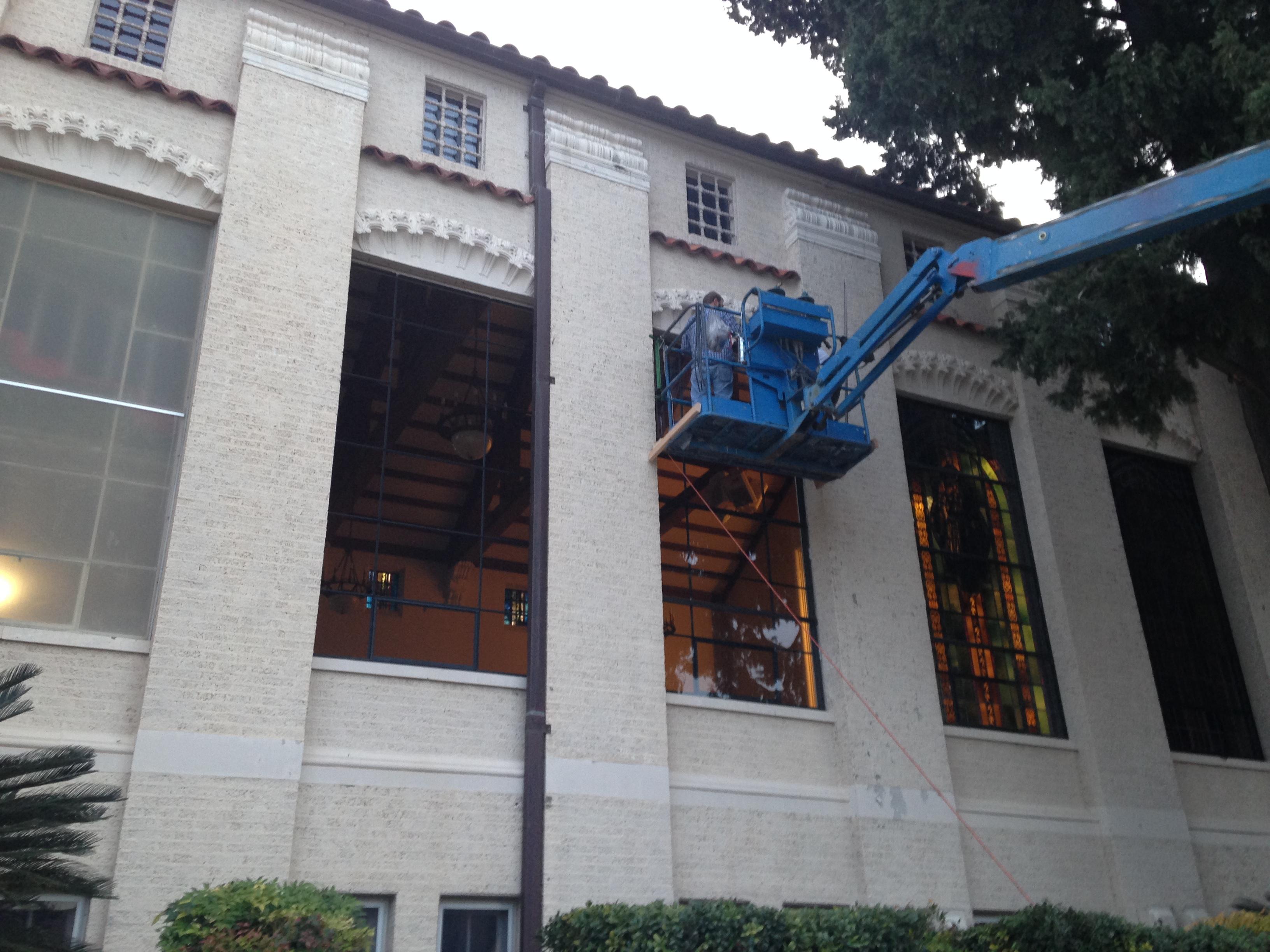church stained glass restoration glazing