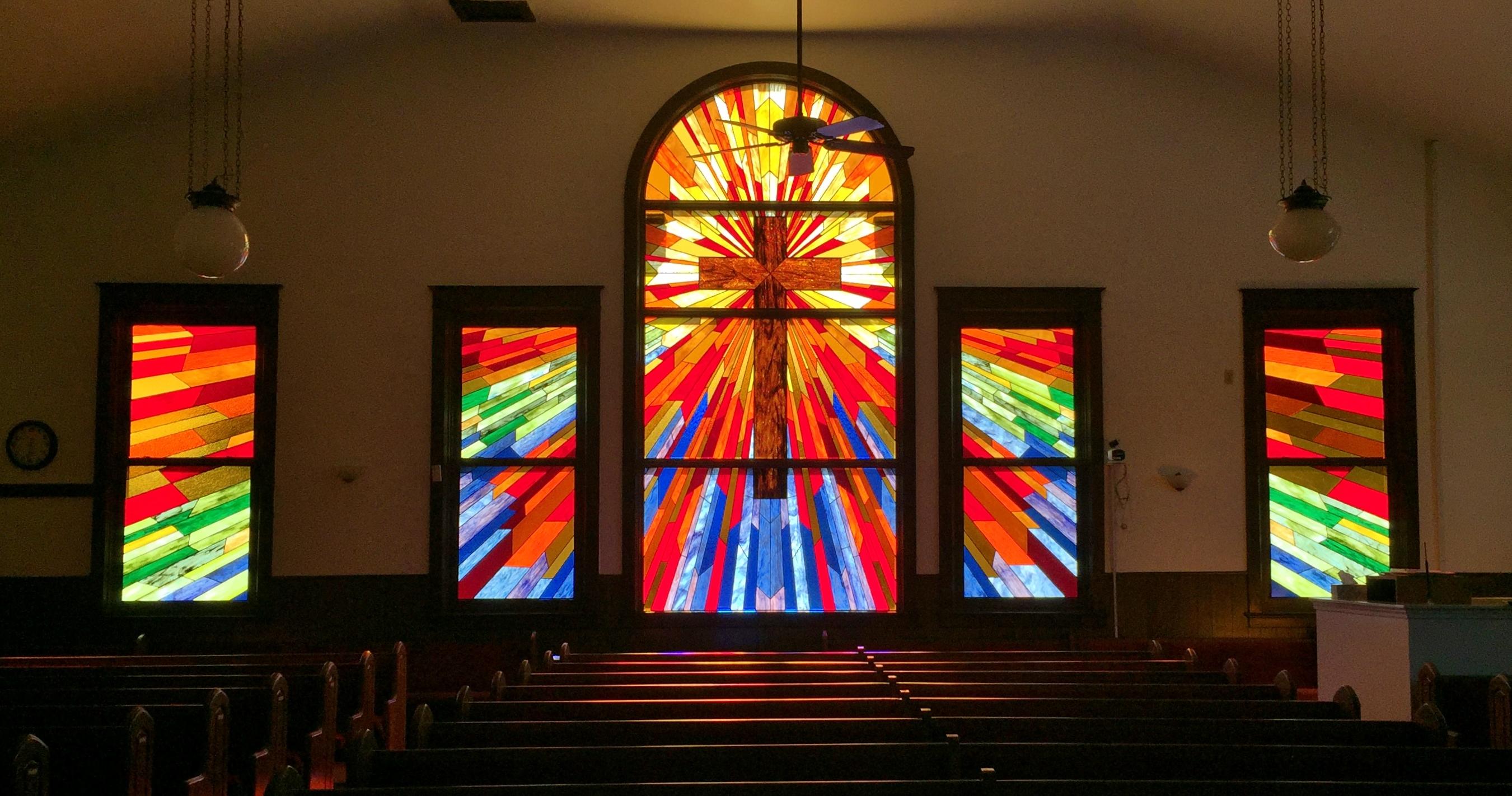 church stained glass repair wichita