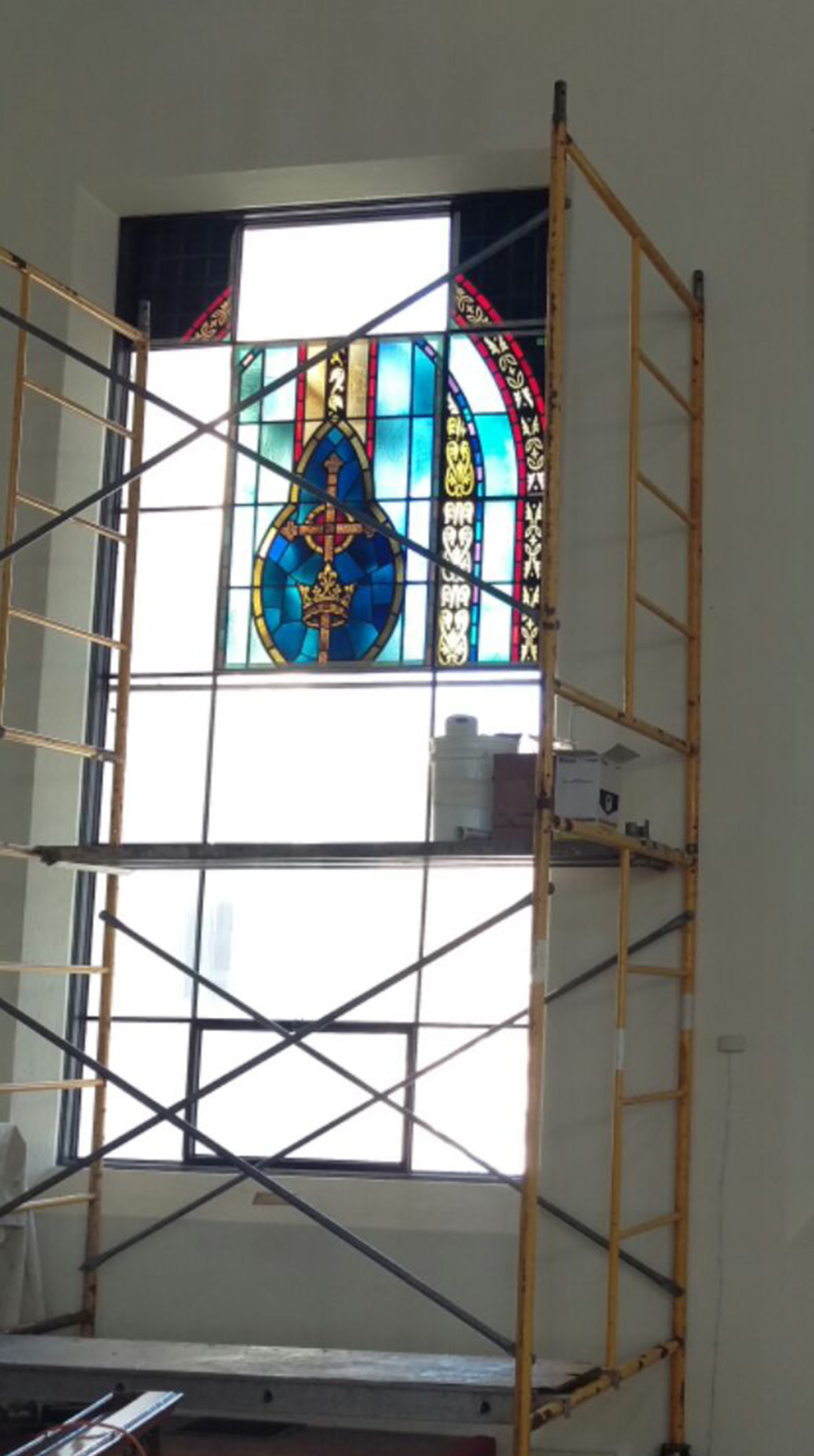 church stained glass restoration process