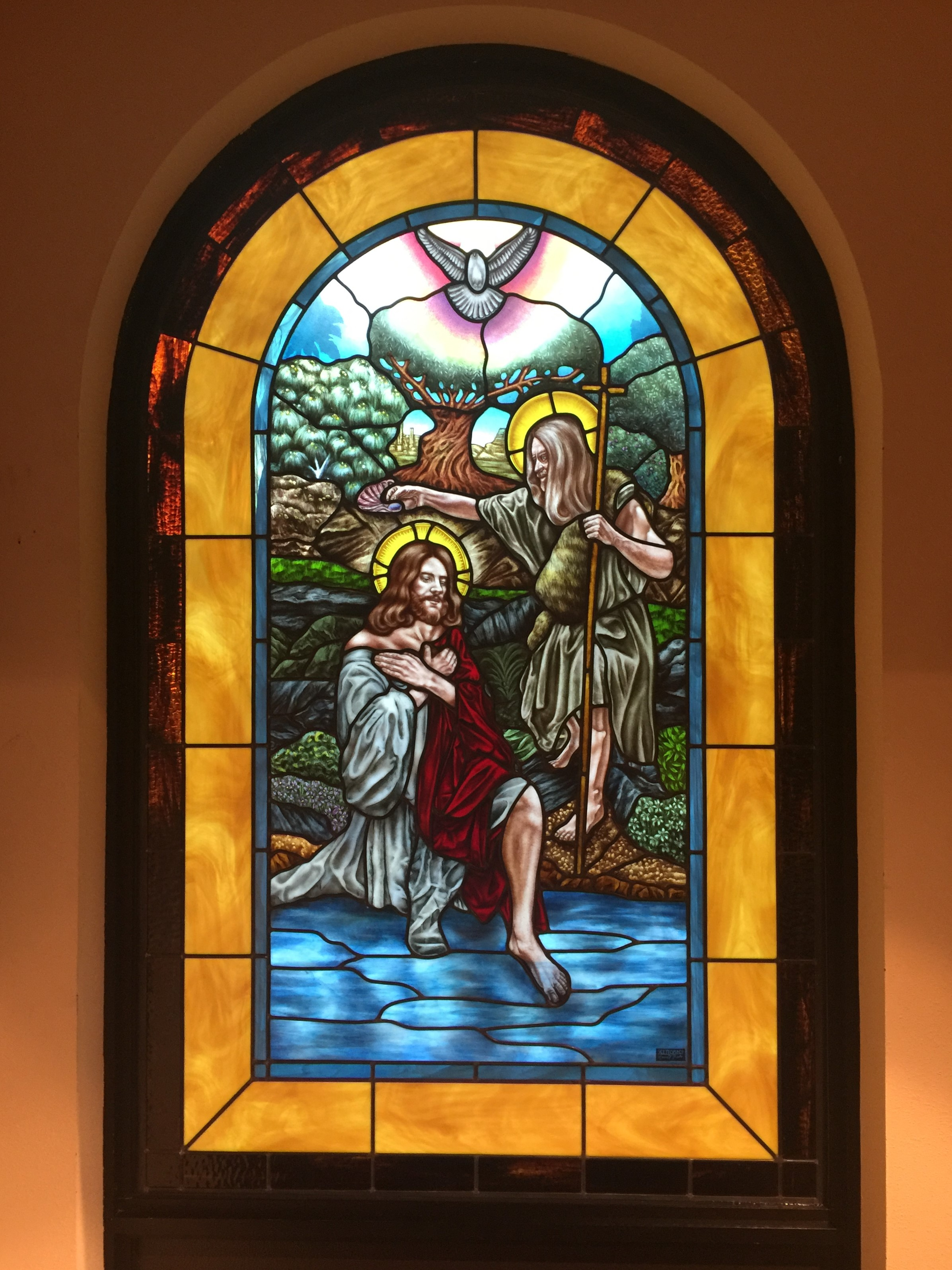 painted stained glass restoration