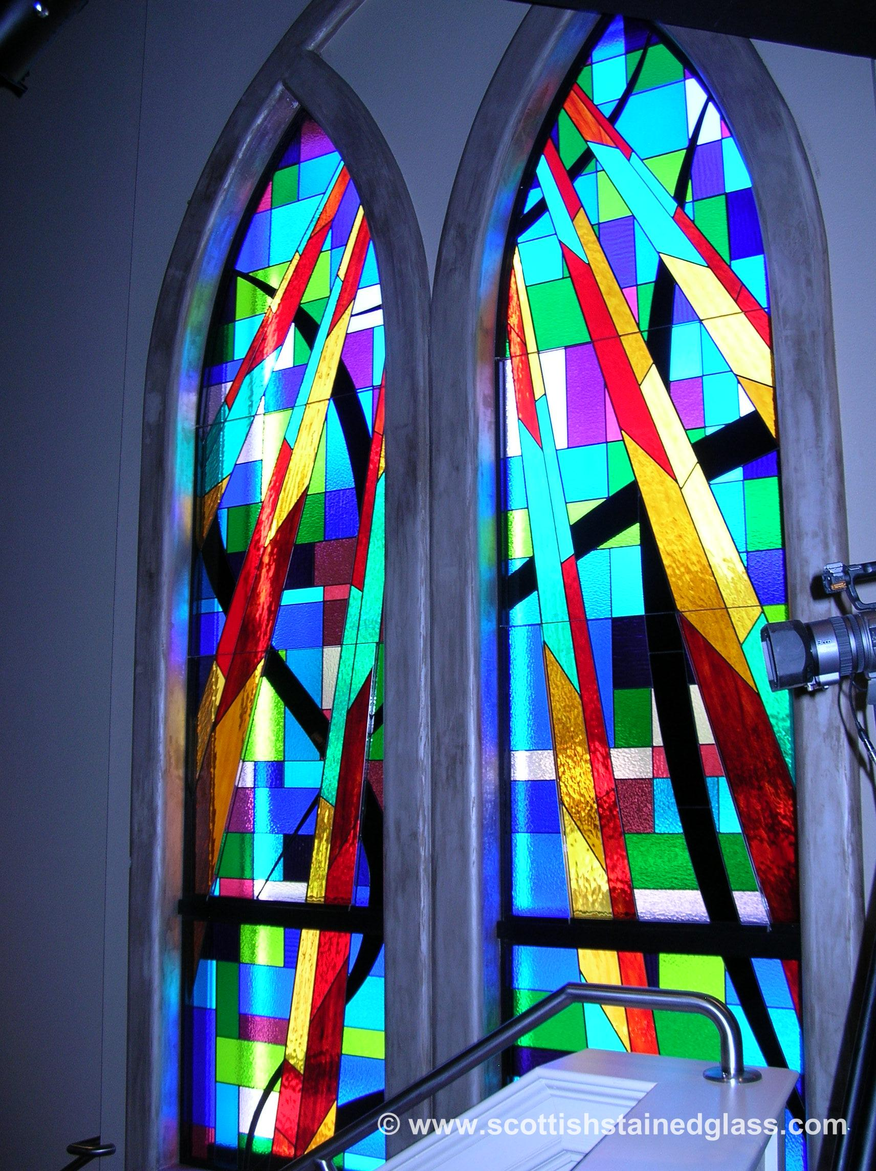 stained glass restoration church